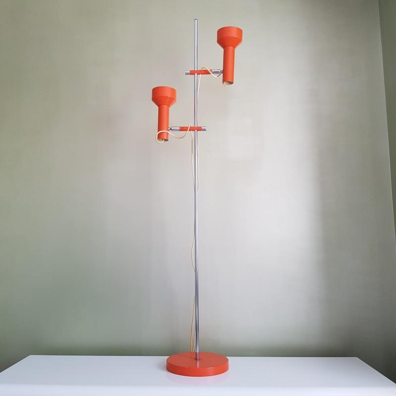 Lampadaire deux feux orientables orange vintage le havre - Lampadaire spots orientables ...