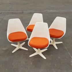 4 chaises Arkana vintage