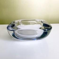Gros cendrier carré  en cristal de Vannes