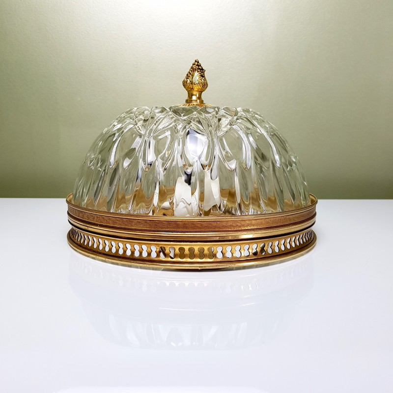 plafonnier globe verre cerclage dor. Black Bedroom Furniture Sets. Home Design Ideas