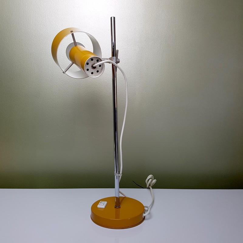 lampe de bureau orange vintage le dauphin hauteur et orientation reglable le havre vintage. Black Bedroom Furniture Sets. Home Design Ideas