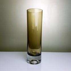 Vase rouleau cristal  fumé Gral Las Palmas Roland Posch 1965 Germany Vintage