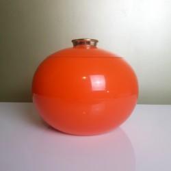 Pomme Plastique Seau a glaçons plastique orange vintage