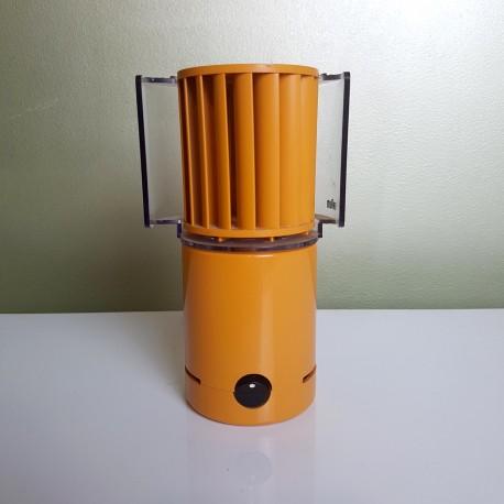 Ventilateur de table orange Braun 4550 HL 70 1971 Weiss Greubel