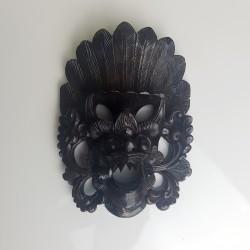 Masque de dragon chinois en palissandre