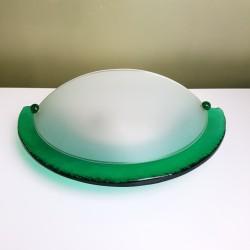 Applique en verre épais épais de couleur verte style Murano Giberti Italy