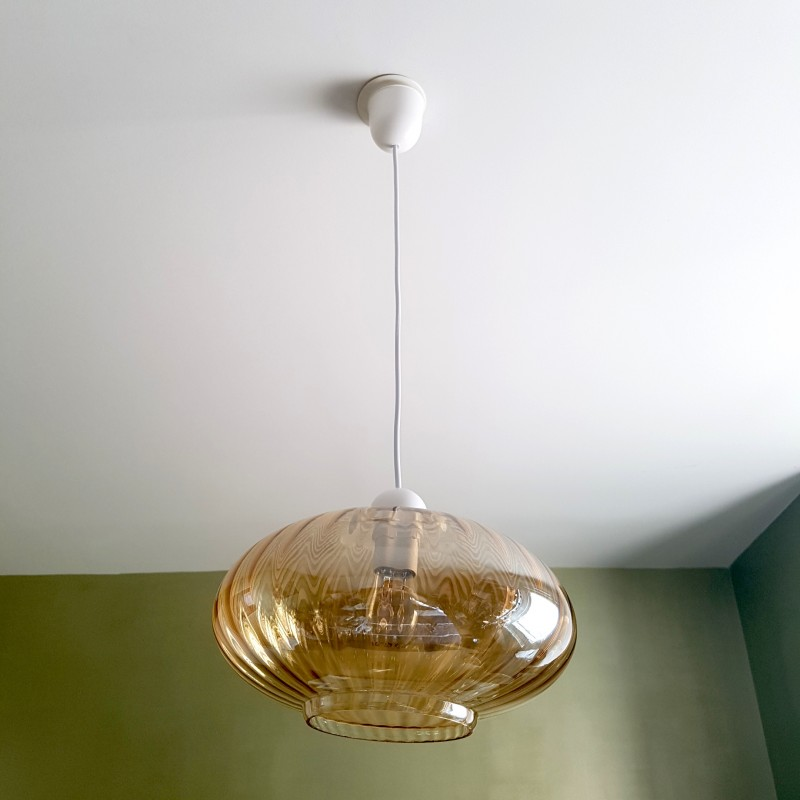 suspension en verre fum iris. Black Bedroom Furniture Sets. Home Design Ideas