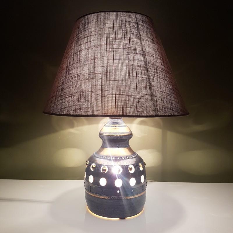 lampe en c ramique georges pelletier la roue vallauris. Black Bedroom Furniture Sets. Home Design Ideas