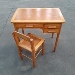 Bureau années 50 avec sa chaise assortie