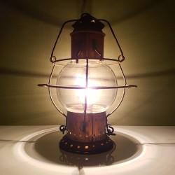Lampe Lanterne marine en cuivre avec globe cage grillagé