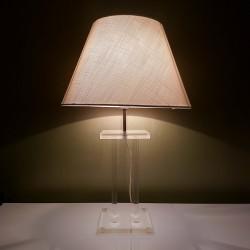 Pied de lampe carré  en altuglass vintage David Lange