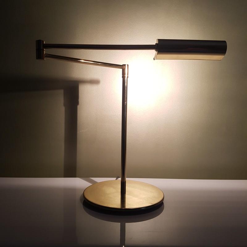 lampe liseuse de bureau articul e dor vintage halog ne avec variateur. Black Bedroom Furniture Sets. Home Design Ideas