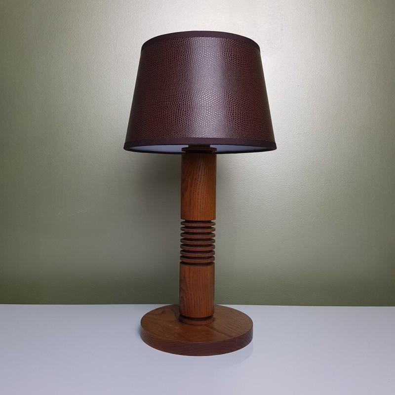 Lampe de chevet en chene de style art d co - Interrupteur lampe de chevet ...