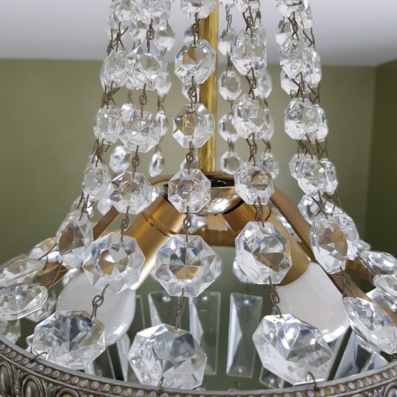 Lustre Montgolfiere 224 Pampilles De Cristal