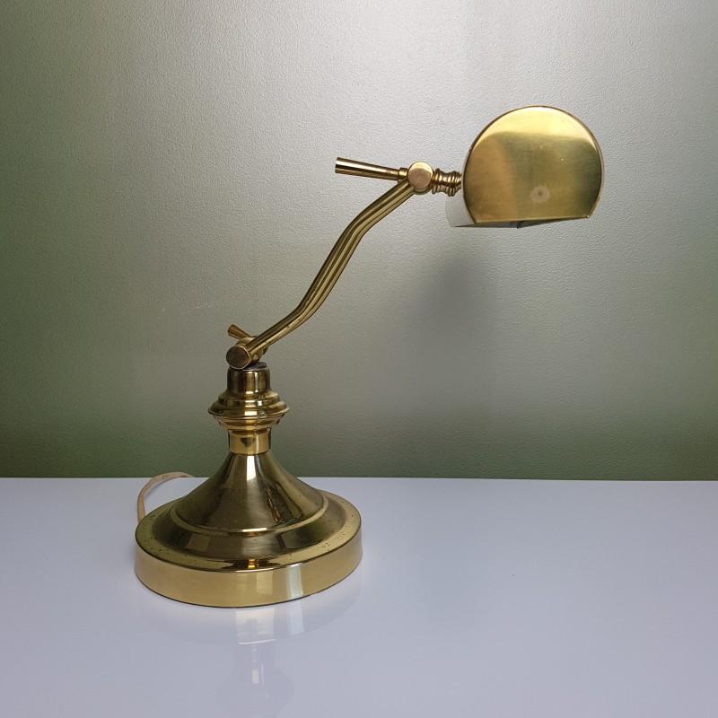 Lampe de bureau banquier great lampe de bureau banquier - Lampe de bureau banquier laiton verre vert ...