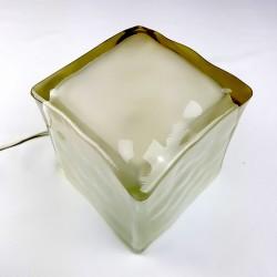 Lampe cube verre façon glaçon Ikea