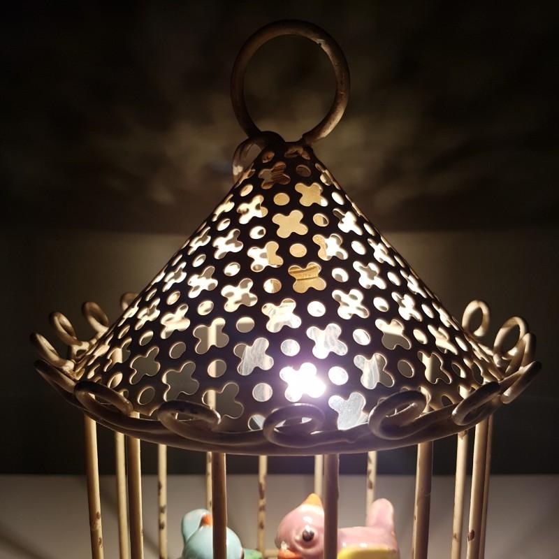 lampe a poser ou suspendre cage oiseaux tole perfor e. Black Bedroom Furniture Sets. Home Design Ideas