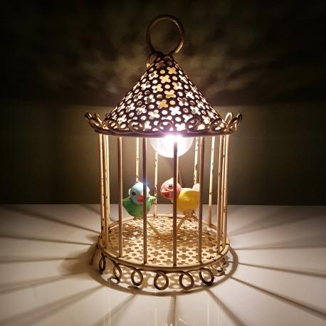 a poser ou suspendre cage oiseaux tole perforée