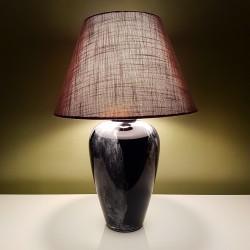 Lampe en verre noir et gris