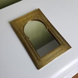 Miroir oriental en laiton repoussé