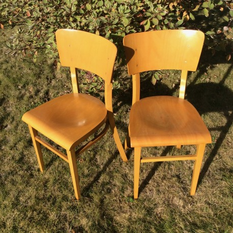 Duo de chaises bistrot Thonet