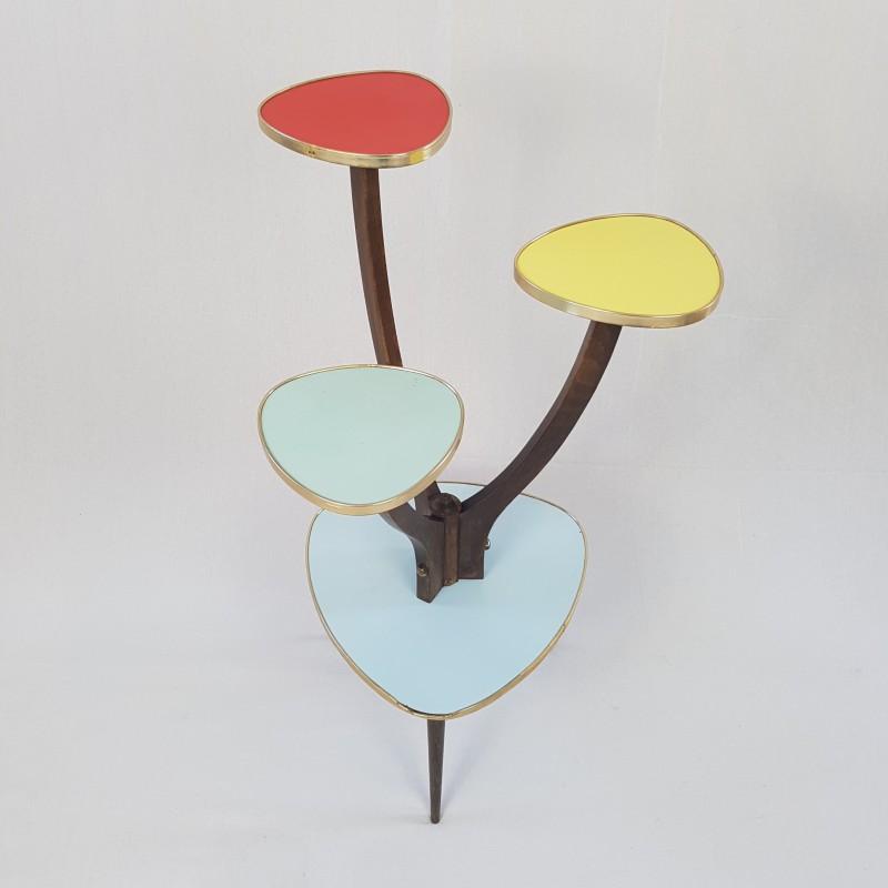 sellette porte plante vintage formica pi tement tripode. Black Bedroom Furniture Sets. Home Design Ideas