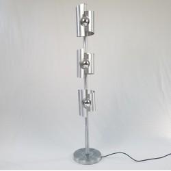 Lampadaire 3 feux aluminium brossé