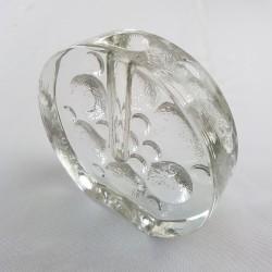 Soliflore en verre Op Art Walther Glas Germany