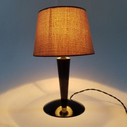 Lampe en Bakelite  noir de style Art Déco 1940