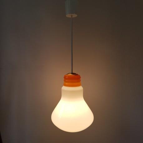 Lustre Ampoule Géante Globe Verre Opaque