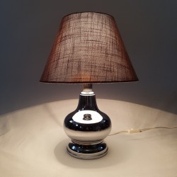 Pied de lampe boule chromé vintage