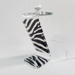 PIed de lampe Z Zebre blanc Design Altuglass
