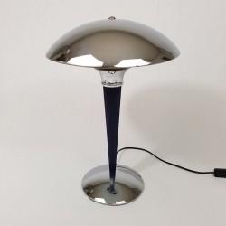 Lampe champignon chromée de style Art Déco