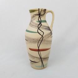 Vase à anse céramique allemande 1950 1960
