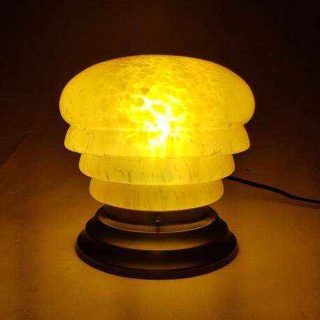 Lampe Art Déco globe en verre de Clichy