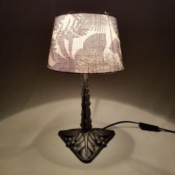 Lampe Art Nouveau en fer forgé