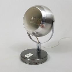 Lampe de chevet Eye Ball vintage en alu brossé