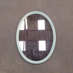 Miroir ovale plastique vert Menthe vintage
