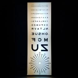 Tableau lumineux test d'acuité visuelle  Echelle de Monoyer