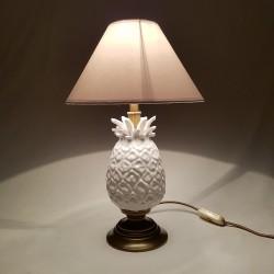 Lampe ananas céramique et laiton