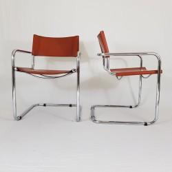 Paire de chaises canteliver modernistes Mart Stam S34