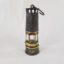 Lampe de mineur mine ancienne verre Val Saint Lambert