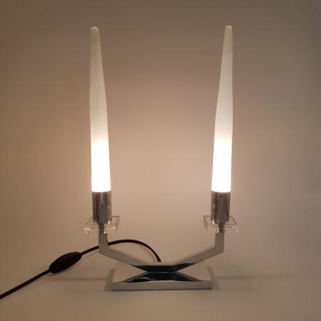 Lampe candélabre moderniste art deco chrome Atelier Petitot