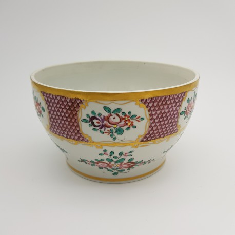 Cache pot porcelaine décor Edme Samson décor chine japon époque 19e
