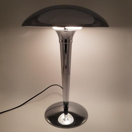 Lampe champignon en métal chromé de style art déco
