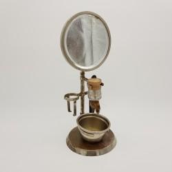 Set de rasage Serviteur de barbier métal nickelé epoque Art Déco années 30