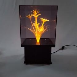 Lampe fleur vintage en fibre optique avec changeur de couleur