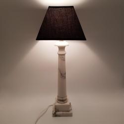 Lampe colonne en albâtre veiné italie vintage