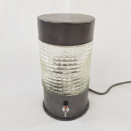 Lampe de table style industriel metal graphité et verre Lita (no jielde gras)
