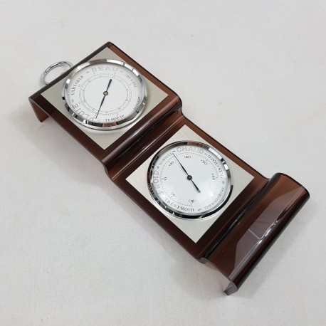 Thermometre Barometre plexiglass Altuglass Maxant vintage (dlg Michel Dumas)